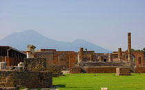 Excavations of Pompeii and View of Vesuvius